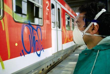 Graffiti-Entfernung Vorher
