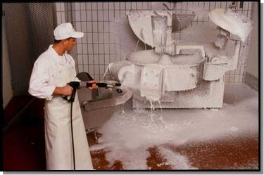 Reinigung in der Lebensmittelindustrie Nachher