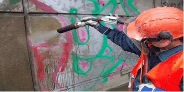 Graffiti-Entfernung Nachher